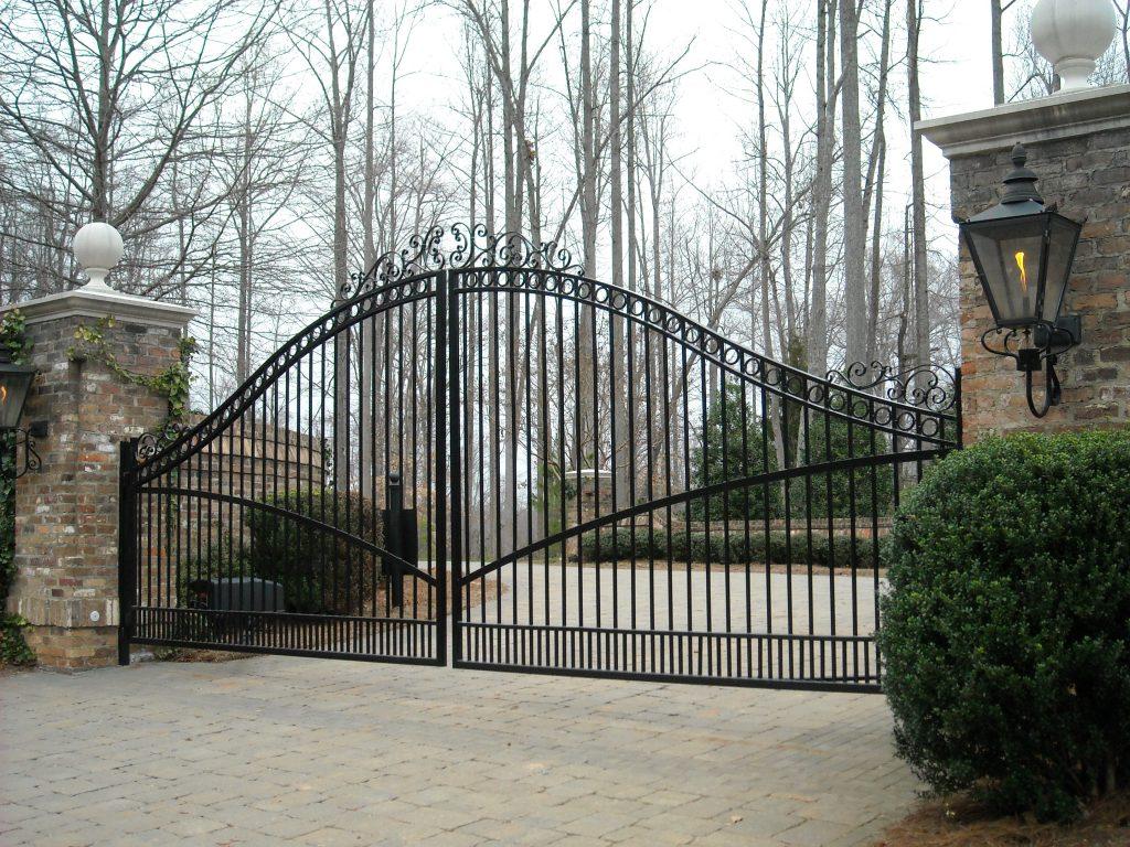 Residential gates raleigh custom wrought iron