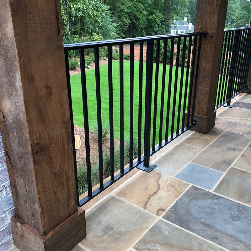 Exterior Residential Iron Railings Custom Aluminum