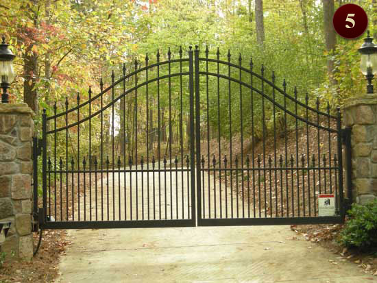 Residential Gates Raleigh Custom Wrought Iron Gates