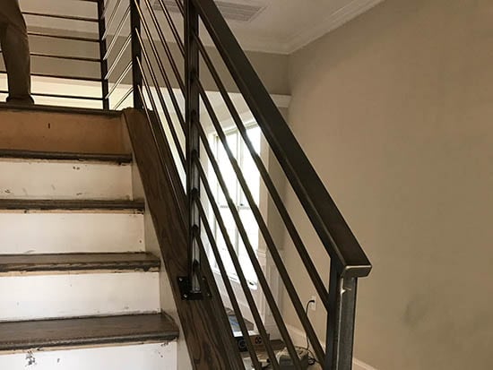 Interior Residential Railings Raleigh Custom Iron